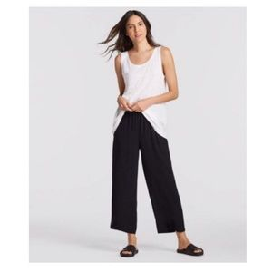 NWT Eileen Fisher Silk Georgette Straight Pant